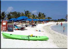 View of beach chairs and kayak St Martin Beaches St Maarten Beaches Sint Maarten Beaches Saint Martin Beaches