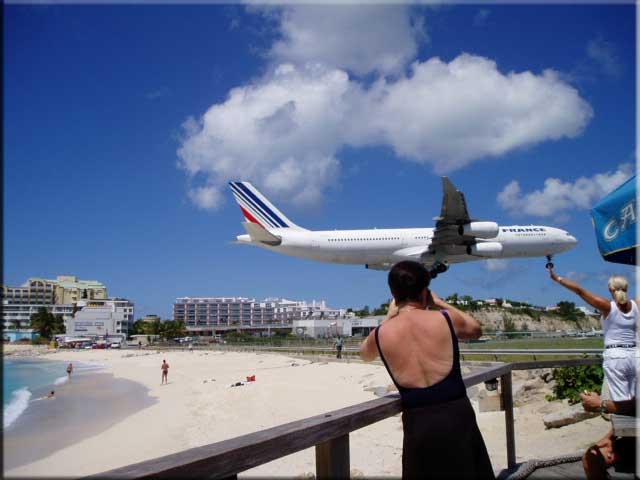 Air France Landing At Maho St Martin Beaches Maarten Sint Saint